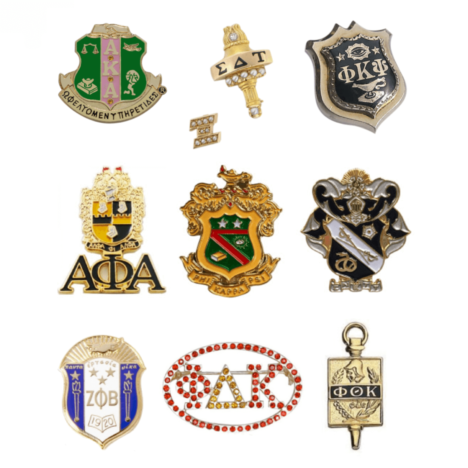 Fraternity Pins & Sorority Pins